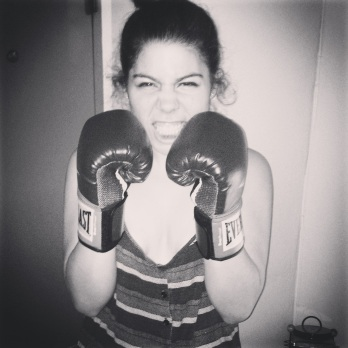 I take my boxing face very seriously.